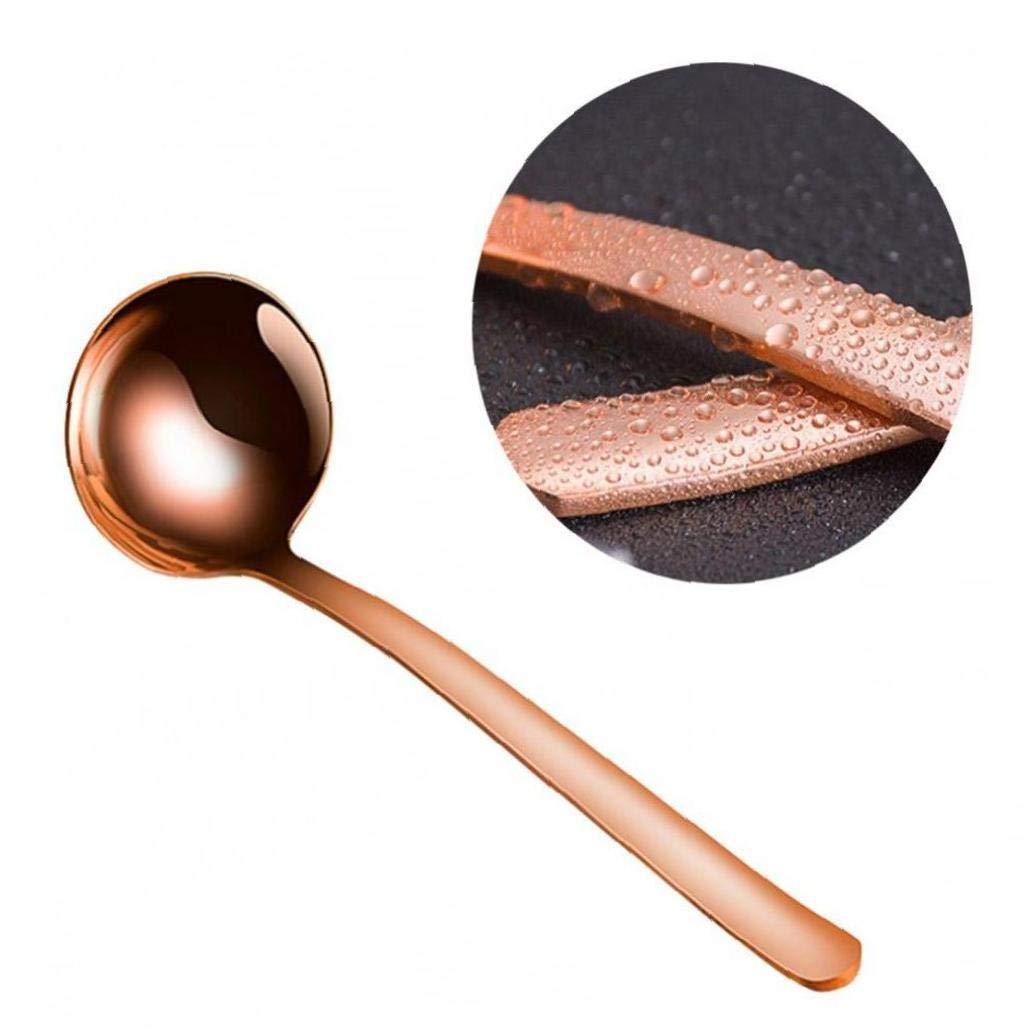 Rame Cucchiaio utensili per cucinare servizio in oro rosa Utensili da cucina in acciaio inossidabile di rame posate di rame Mestolo Serving Spoon