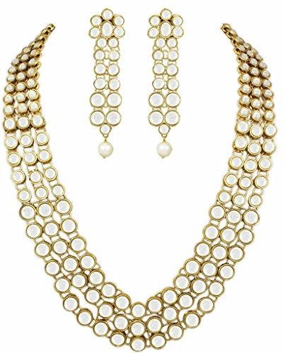Karatcart Multi Strand Gold Plated Kundan Necklace Set For Women…