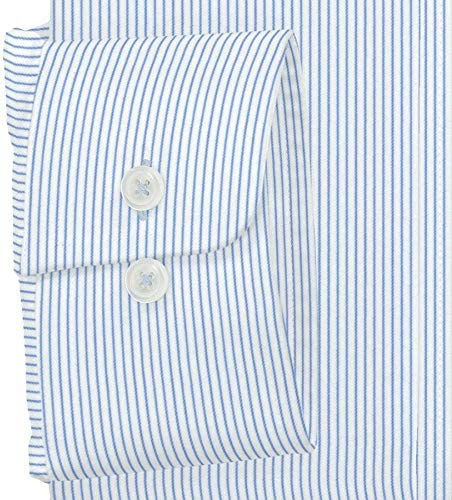 ワイシャツ 軽井沢シャツ [A10KZW408]ワイドスプレッド ホワイト×ブルーストライプ らくらくオーダー受注生産商品