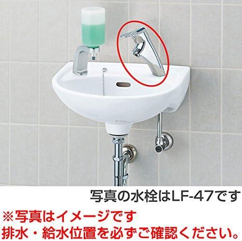 INAX LIXIL 【L-15G セット】 手洗器 壁付式 水栓【LF-P02B】 床給水・壁排水(Pトラップ) 【カラー:BN8(オフホワイト)】
