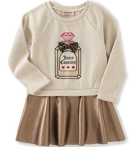 juicy-couture-little-girls-toddler-dress-with-faux-pleather-skirt-oatmeal-3t