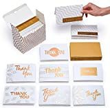 Never be without a great supply of pretty and simple thank you cards for those times when only a personal note of gratitude will do! Consider this set of blank thank you cards small and classy with 8 beautiful and unique designs suited for birthda...