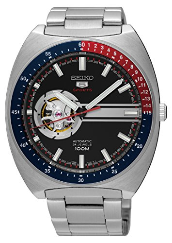 (SEIKO 5 Sports 100M Retro Automatic Open Heart Watch SSA329K1)