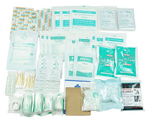 160 Piece First Aid Kit Bag Refill Kit - Includes Eyewash,Instant Cold Pack, Bandages,Emergency Blanket,Moleskin Pad,Gauze - Extra Replacement Medical Supplies for First - Bandage Kit