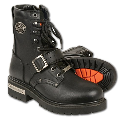 Milwaukee Leather Men's Classic Motorcycle Boots (Black, Size 9.5) -
