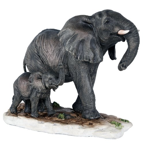 Pacific Giftware African Elephant with Baby Elephant Endangered Wildlife Collectible Figurine Statue Decor Gift Pacific Trading 11594
