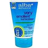 Alba Botanica Sport Sunscreen Fragrance Free SPF 45 4 oz