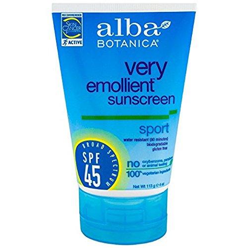 Alba Botanica Sport Sunscreen Fragrance Free SPF 45 4 oz