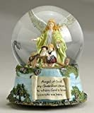 "Pack of 2 Guardian Angel and Children Musical ""Jesus Loves Me"" Water Glitter Dome Globes 5.5"""