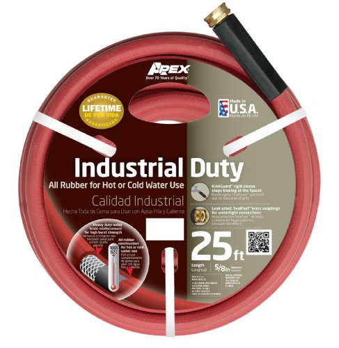 (Apex, 8695-25, Commercial All Rubber Hot and Cold Water Hose,  5/8-Inch by 25-Feet)
