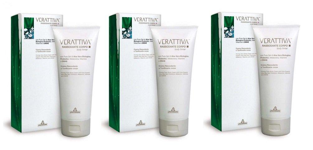 Specchiasol - verattiva Reafirmante Crema 3 paquetes de 200 ml elasticizzante, Tonificante, Antiage: Amazon.es: Belleza