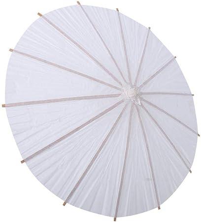 Papier Parapluie Blanc Chinoise Ombrelle Chinoise Fait A La Main
