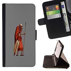 Momo Phone Case / Flip Funda de Cuero Case Cover - African Man Masai Bushman 3D - LG OPTIMUS L90