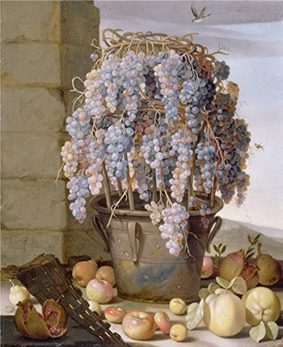 - 'Still Life with Grapes and other Fruit, about 1630s By Luca Forte' oil painting, 8x10 inch / 20x25 cm ,printed on high quality polyster Canvas ,this Vivid Art Decorative Prints on Canvas is perfectly suitalbe for Nursery gallery art and Home gallery art and Gifts