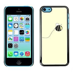 [Neutron-Star] Snap-on Series Teléfono Carcasa Funda Case Caso para iPhone 5C [Amarillo lindo abejorro verano]