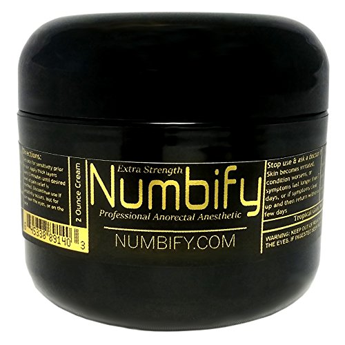 Numb-ify Numbing Cream 5% Lidocaine Extra Strength Anesthetic - Numb-ify's Strongest/Best Pain Relief & Numbing Cream (2 Oz)
