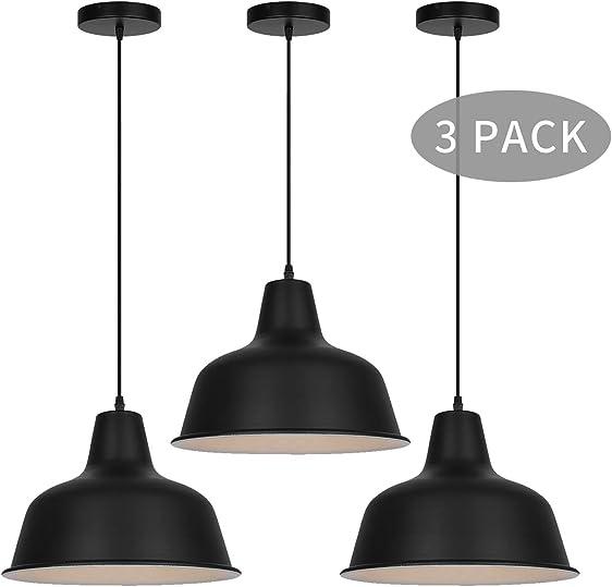 Black Industrial Pendant Lights Retro Farmhouse Hanging Ceiling Light Fixture