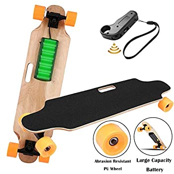 Image of Aceshin Electric Skateboard Motorized Skateboard 20 KM/H Top Speed, 250W Motor,7 Layers Maple Longboard with Wireless Remote Control Christmas Birthday for Adult Kids Teens Longboards