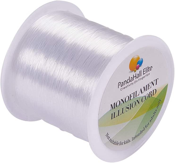 PH PandaHall 1 Roll 100m// 109yards 0.25mm Crystal Clear Nylon Thread Fishing Line Wire for DIY Beads Craft