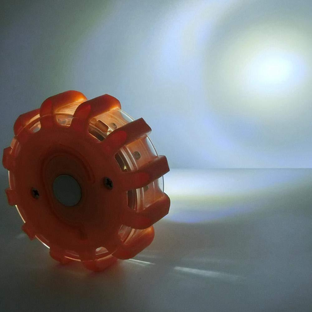 Notfalllicht OKMINIOK LED-Blinklicht mit Aufbewahrungstasche 9 Blinkmodi 4 St/ück wasserdicht bruchsicher magnetischer Sockel und Haken
