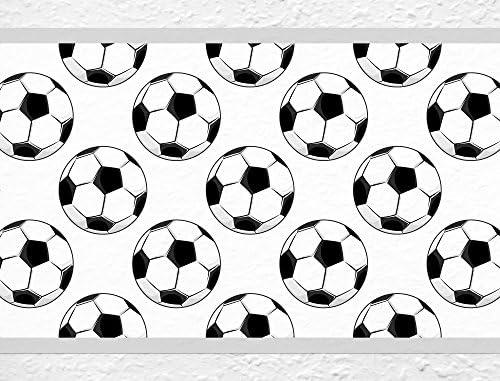 I-love-Wandtattoo Cenefa Autoadhesivo para niños balones de fútbol deportismo Dormitorio Infantil: Amazon.es: Hogar