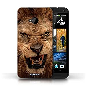 KOBALT? Protective Hard Back Phone Case / Cover for HTC One/1 M7 | Lion Design | Wildlife Animals Collection by lolosakes