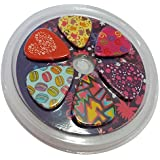 Unique Girly Guitar Picks for Girls Set 12-pack - Medium Size Celluloid - Best Gifts for Kids Teens Daughter Granddaughter Niece Women - Thanksgiving Christmas New Year Birthday Stocking Stuffers