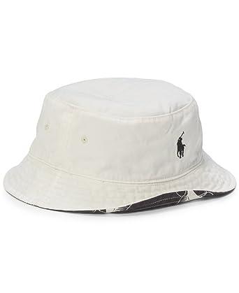 Polo Ralph Lauren Swordfish-Print Reversible Bucket Hat - Black White  (L XL)  Amazon.co.uk  Clothing 840bcf635b6