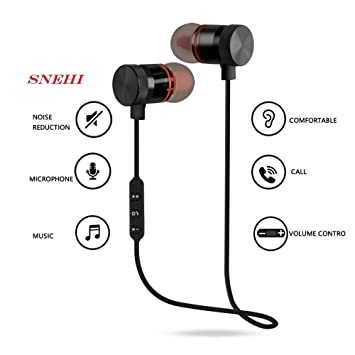 Buy Snehi Anew Wireless Sports Bluetooth Magnet Earphone Hands Free Headphone For All Smartphone Black Online At Low Prices In India Amazon In