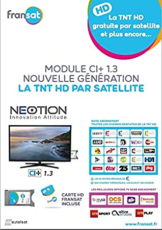 Neotion CAM Fransat Ci Plus Option SFR Sat/Option Bein Deporte + Tarjeta ilimitada: Amazon.es: Electrónica