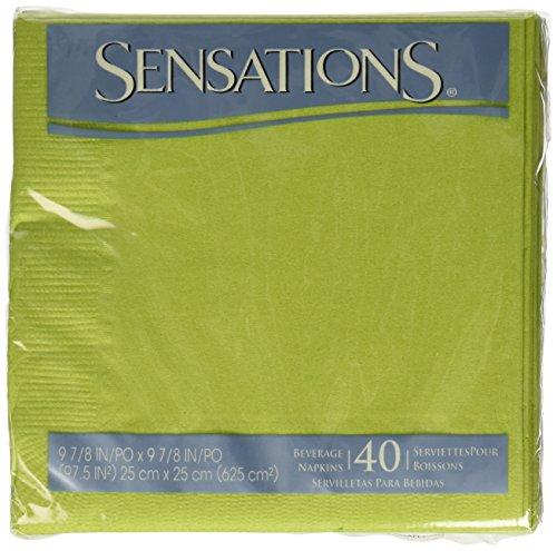 (Sensations Beverage Napkin Wasabi Green, 40 ct)
