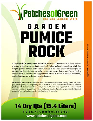 (Patches of Green Volcanic Garden Pumice Rock from 14 Dry Quarts Bag)