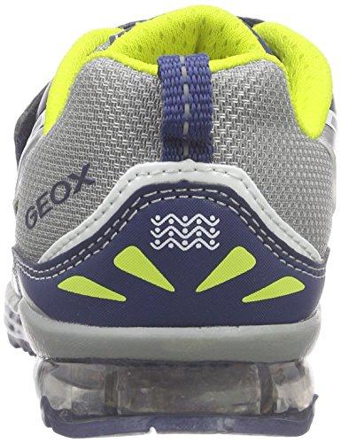 Geox B Todo Boy a, Zapatos de Primeros Pasos para Bebés Multicolor (Grey / Navy)