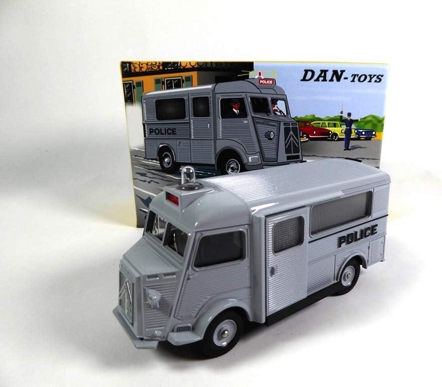OPO 10 - Citroen HY Police Seguridad DE Coches Gris Dinky Dan Toys (DAN-107)