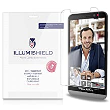 iLLumiShield - Blackberry Z30 Screen Protector Japanese Ultra Clear HD Film with Anti-Bubble and Anti-Fingerprint - High Quality (Invisible) LCD Shield - Lifetime Replacement Warranty - [3-Pack] OEM / Retail Packaging