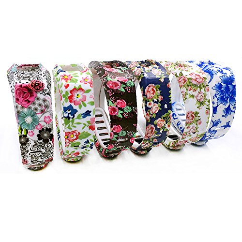 SKYLET Replacement Bands for Garmin Vivofit 2 (No Tracker)(Six Flowers, Large)