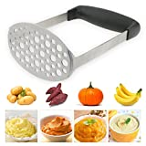 TedGem Masher,Stainless Steel Potato Masher with Handle, Baby Food Masher, Fruit & Vegetable Baby Food Masher,Potato Ricer, Potato Ricer Masher