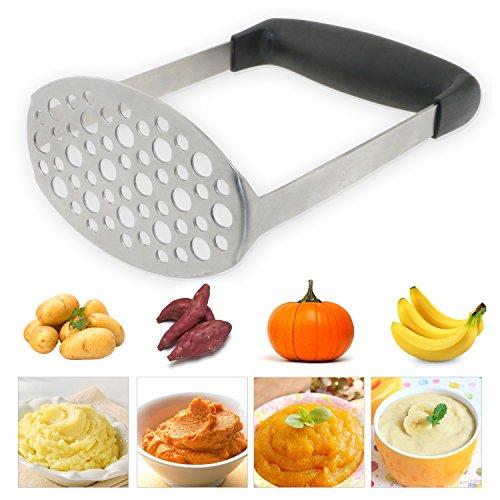 TedGem Masher,Stainless Steel Potato Masher with Handle, Baby Food Masher,...