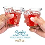 50 Clear Plastic Cups | 9 oz Plastic Cups | Clear