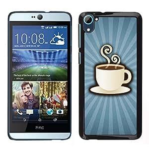 EJOY---Cubierta de la caja de protección para la piel dura ** HTC Desire D826 ** --Poder del café