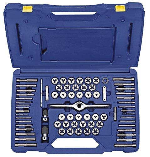 IRWIN HANSON Machine/Fractional/Metric Plug Tap and 1 Hex Die Set, 75 Piece, (Fractional Die Set)