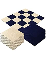 Self Adhesive Carpet Floor Peel Tile Square 20Pcs 25 x 25cm Anti-Slip No Fatigue Mat Area Rug Floor Protect Pads Easy Install DIY
