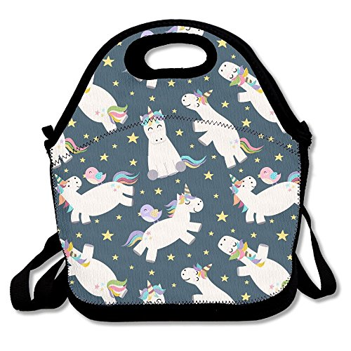Unicorn Stars Insulated Lunch Bag Picnic Lunch Tote For Work, Picnic, Travelling