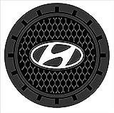 hyundai cup holder insert - Bearfire 2.75 inch Diameter Oval Tough Car Logo Vehicle Travel Auto Cup Holder Insert Coaster Can 2 Pcs Pack (Hyundai)