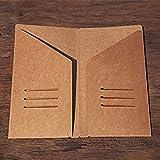 10pcs Kraft Paper Traveler's Notebook Standard Size Craft File Journal Refill Filler Name Card Invoice Paper Bill Note Pocket - 11x21cm