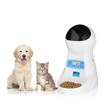 DJLOOKK Alimentador Automático para Gatos Alimentador para Perros Alimentadores Dispensador De Alimentos con Temporizador Programable,