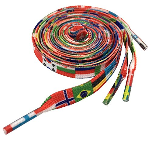 Gradient Rainbow Shoelaces Fashion Colorful British Style Shoestring YJRVFINE Flag Shoe Laces String(1 Pair) 47.24