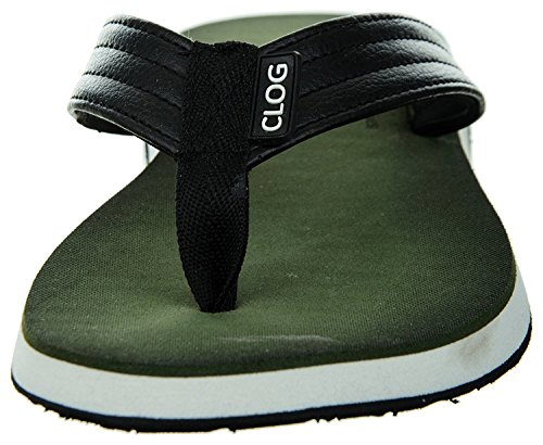 Clog Mens Classical Anti-Skid Flip-Flops, Ultra Light Weight Brown Sandal Olive