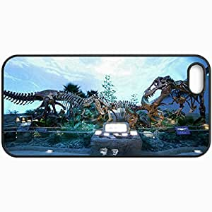 Fashion Unique Design Protective Cellphone Back Cover Case For iPhone 5 5S Case Dinosaur Black