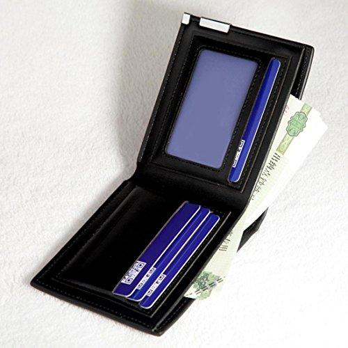 Tefamore Männer stilvolle Bifold Business Leder Wallet Card Inhaber Wallet Geldbörse